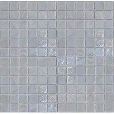 "<strong>Epoch Architectural Surfaces</strong> Gemstonez Chalcedony 12"" x 12"" Recycled Glass Mosaic in White"