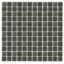 "<strong>Epoch Architectural Surfaces</strong> Spongez S-Black 12"" x 12"" Recycled Glass Mosaic in Black"