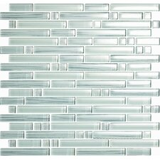 Brushstrokes Bianco Random Sized Mosaic in White