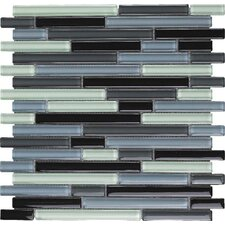 Color Blends Joven Random Sized Glossy Glass Mosaic in Multi