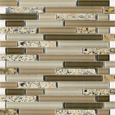 Spectrum Desert Gold Random Sized Stone and Glass Blend Mosaic in Beige Multi