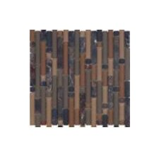 Varietals Rioja Random Sized Mosaic Stone and Glass Blend in Multi