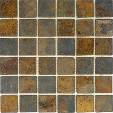 """2"""" x 2"""" Tumbled Slate Mosaic in Sunsets"""