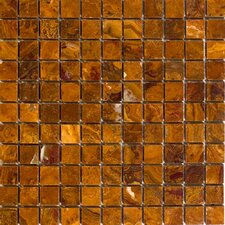 """1"""" x 1"""" Polished Onyx Mosaic in Brown"""