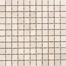 "<strong>Epoch Architectural Surfaces</strong> 12"" x 12"" Polished / Tumbled Marble Mosaic in Crema Marfil"