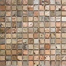 """1"""" x 1"""" Tumbled Slate Mosaic in Copper"""
