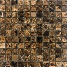 "12"" x 12"" Polished / Tumbled Marble Mosaic in Emperador Dark"