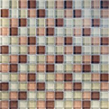 "<strong>Epoch Architectural Surfaces</strong> Desertz Gobi 12"" x 12"" Glass Mosaic in Beige Multi"