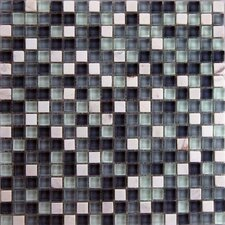 "Cloudz Nimbostratus 5/8"" x 5/8"" Stone and Glass Mosaic Blend in Multi"