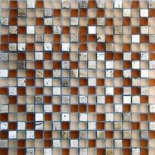 "Desertz Rangipo 5/8"" x 5/8"" Stone and Glass Blend Mosaic in Beige Multi"