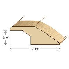 "0.58"" x 2.25"" Solid Hardwood Red Oak Reducer Overlap in Unfinished"
