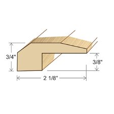 "0.75"" x 2.13"" Solid Hardwood Honduran Pine Threshold in Unfinished"
