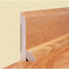 "0.45"" x 2.89"" Solid Bamboo Carbonized Horizontal Wall Base in Unfinished"