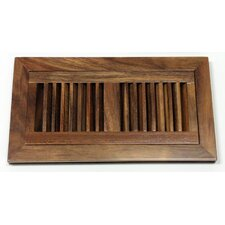 "6-3/4"" x 12-3/8"" Acacia Wood Flush Mount Vent"