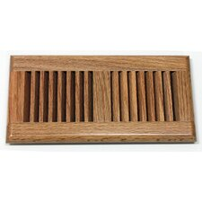 "5-5/8"" x 11-1/4"" Red Oak Wood Surface Mount Vent"