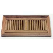 "5-3/4"" x 12-1/4"" Walnut Flush Mount Wood Vent"