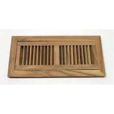 "6.75"" x 14.5"" Acacia Wood Flush Mount Vent Cover"