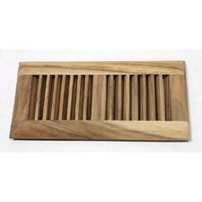 "5.63"" x 11.25"" Acacia Wood Surface Mount Vent Cover"