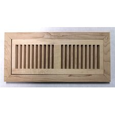 "<strong>Moldings Online</strong> 6-3/4"" x 14-1/2"" Maple Flush Mount Wood Vent"