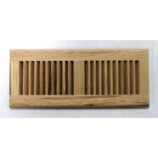 "5-5/8"" x 13-1/2"" Pecan Surface Mount Wood Vent"