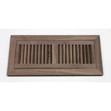 "6-3/4"" x 12-3/8"" Walnut Flush Mount Wood Vent"