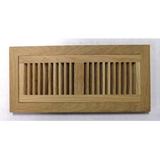 "<strong>Moldings Online</strong> 6-3/4"" x 16-5/8"" White Oak Wood Flush Mount Vent"