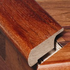 """0.67"""" x 3.75"""" Solid Hardwood Walnut Overlap Stair Nose in Unfinished"""