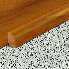 "0.47"" x 0.75"" Solid Bamboo Carbonized Strand Base Shoe in Unfinished"