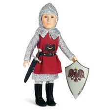 "<strong>Carpatina</strong> Knight Outfit with Tunic, Tights, Shirt, Boots for 18"" Slim Boy Dolls"