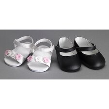American Girl Dolls Shoes Set with Sandals and Mary Janes