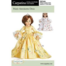<strong>Carpatina</strong> Clothes Pattern Doll Marie Antoinette Dress