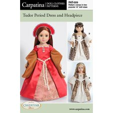 <strong>Carpatina</strong> Clothes Pattern Doll Tudor Dress and French Hood