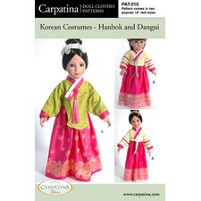 <strong>Carpatina</strong> Clothes Pattern Doll Korean Hanbok and Dangui