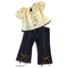 <strong>Carpatina</strong> American Girl Dolls Fun Chic Peasant Blouse and Jeans