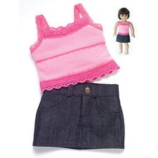 American Girl Dolls Rendezvous Outfit with Skirt and Tank Top