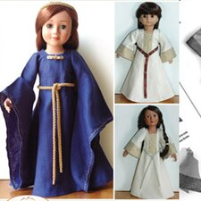 Clothes Pattern Doll Medieval Dress