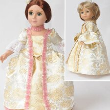 Clothes Pattern Doll Robe a la Francais