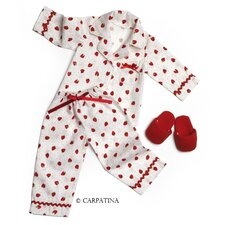 American Girl Dolls Strawberry Fields Pajamas and Slippers