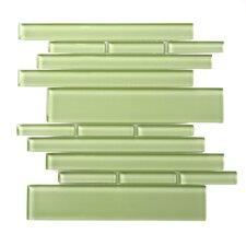 Piano Random Sized Interlocking Mesh Glass Tile in Tempo