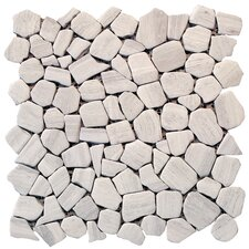 "Haisa Marble 12"" x 12"" Irregular Mosaic in Haisa Light"
