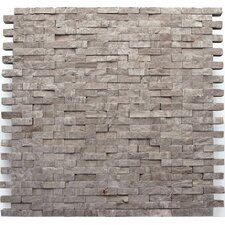 "Haisa Marble 12"" x 12"" Split Face Mosaic in Haisa Dark"