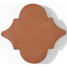 "Terra Cotta 8"" x 8"" Medallon Tile in Brown"
