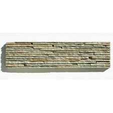 "Portico Slate 6"" x 23 1/2"" Stacked Stone Tile in Light Green"