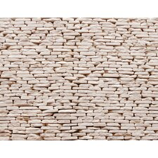 "Standing Pebbles 12"" x 4"" Interlocking Mesh Tile in Pavilion"
