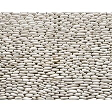 "Standing Pebbles 12"" x 4"" Interlocking Mesh Tile in Statuary"