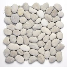 Decorative Pebbles Random Sized Interlocking Mesh Tile in Brookstone