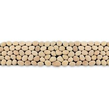 "Decorative Pebbles 39"" x 4"" Interlocking Border Tile in Rain"