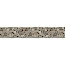 "Decorative Pebbles 39"" x 4"" Interlocking Border Tile in Balinese Nights"