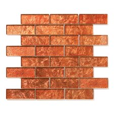 "Folia 12"" x 12"" Glass Interlocking Mesh Tile in Tamarind"
