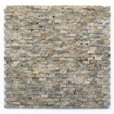 "Modern 1/2"" x 3/4"" Stone Unpolished Mosaic in Opera (Set of 10)"